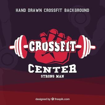 Crossfit, forte, homem, fundo