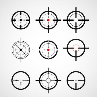 Crosshair (mira de arma), conjunto de ícones de alvo