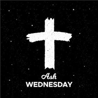 Cruz de quarta-feira de cinza de tinta