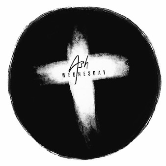 Cruz de quarta-feira de cinzas de tinta