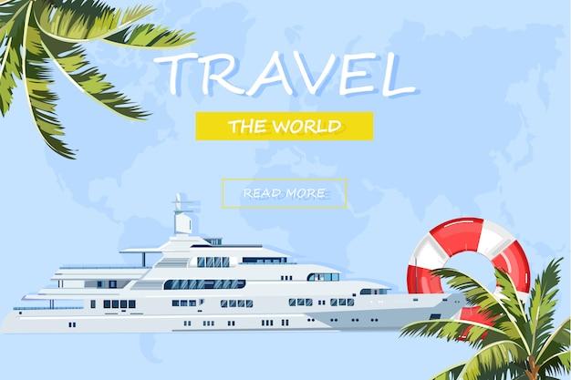 Cruzeiro de verão de barco de viagem