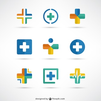 Cruzes modelos de logotipo médicos