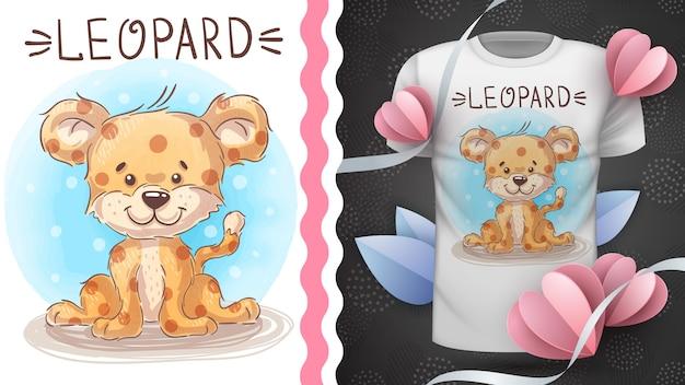 Cte bebê leopardo, idéia para impressão t-shirt