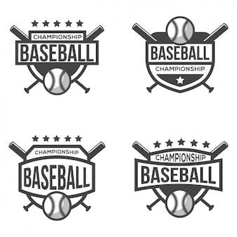 Cuatro logotipos parágrafo béisbol