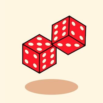 Cube dice clean mascotes estilo moderno