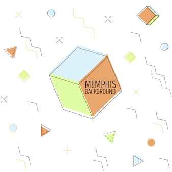 Cubed memphis bacground