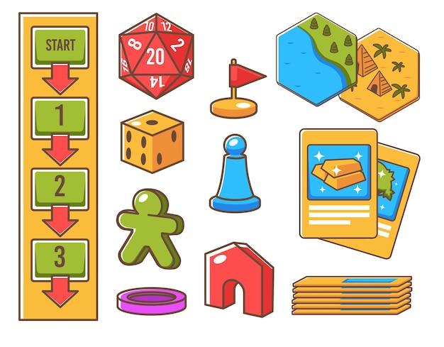 Cubo de dados geométricos com lados e números