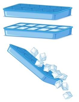 Cubo de gelo em fundo branco