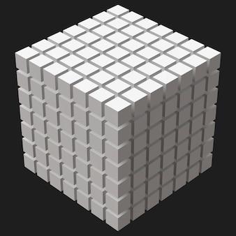 Cubo grande com cortes cúbicos