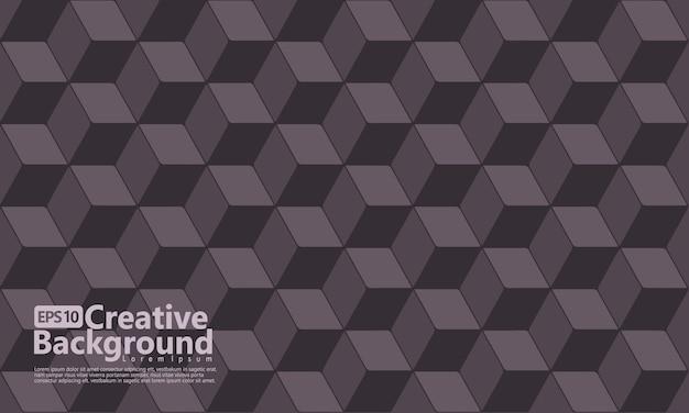 Cubo hexagonal molda cor geométrica, preta.