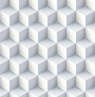 Cubos brancos seamless design pattern