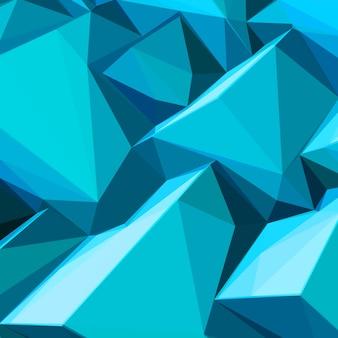 Cubos de gelo azuis abstratos e cores posterizadas de fundo