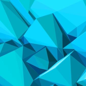 Cubos de gelo azul abstrato