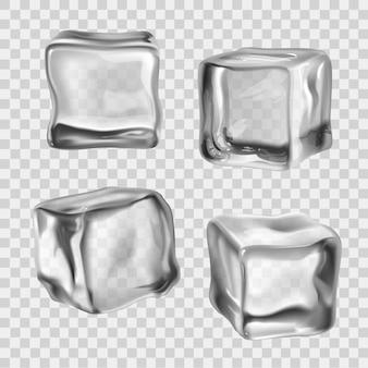 Cubos de gelo transparente