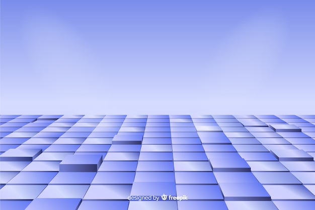 Cubos de perspectiva realista andar fundo