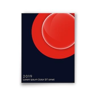 Cubra design minimalista. fundo da linha do círculo abstrato.