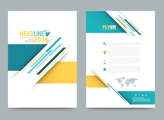 Cubra o relatório anual leaflet brochure flyer modelo a4 tamanho