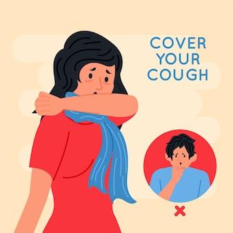 Cubra sua pandemia de coronavírus para tosse