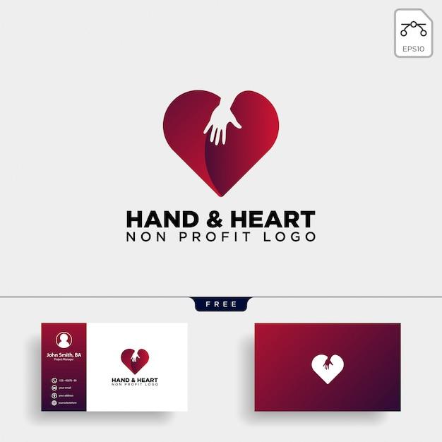 Cuidado do amor dá o logotipo do coração