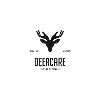 Cuidado dos cervos com logotipo de duas mãos