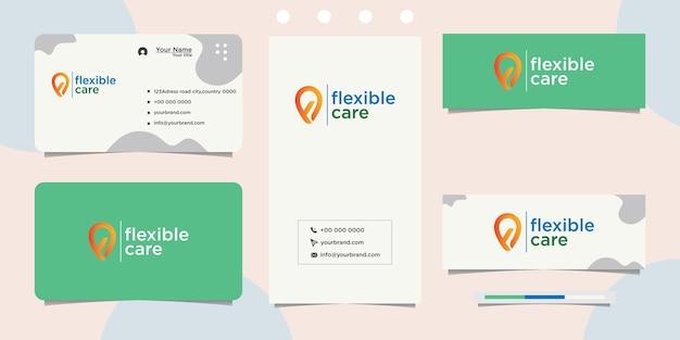 Cuidado natural de design flexível e cartão de visita