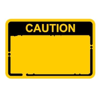 Cuidado, vetor de sinal
