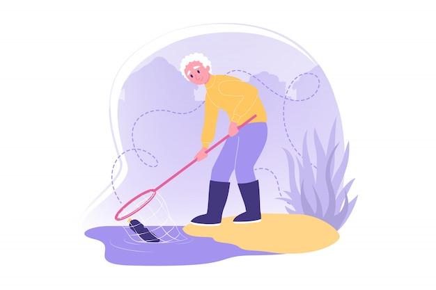 Cuidados ambientais, voluntariado, conceito de ecologia