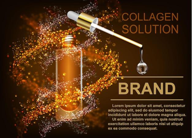 Cuidados com a pele a solução de colágeno uma gota de q com dna victor