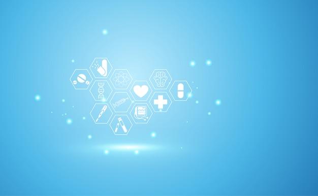 Cuidados de saúde de ciência médica de saúde abstrata