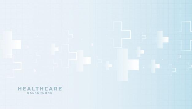 Cuidados de saúde e ciência médica fundo elegante