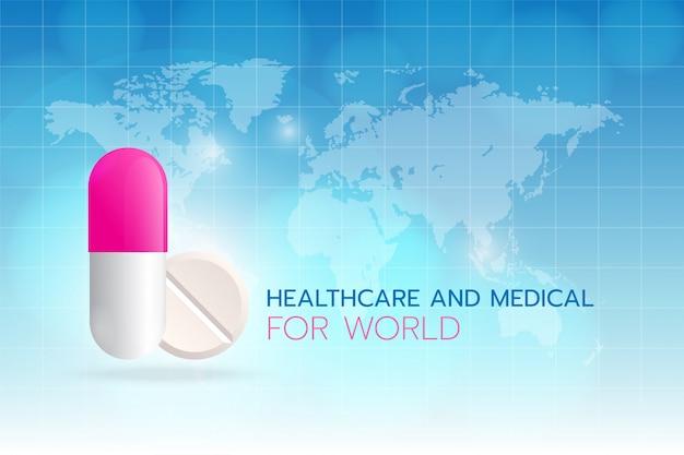 Cuidados de saúde e medicina para o mundo