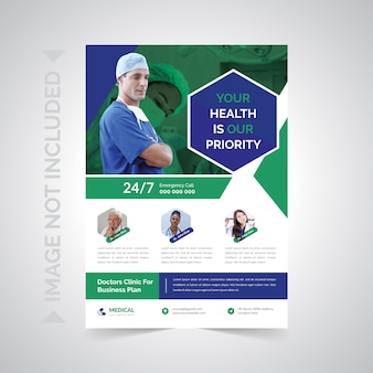 Cuidados de saúde e médicos flyer
