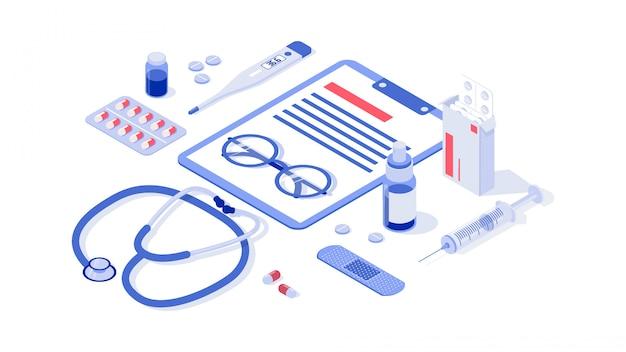 Cuidados de saúde, farmácia e ilustrações médicas