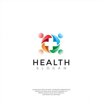Cuidados de saúde, médico, logotipo de farmácia