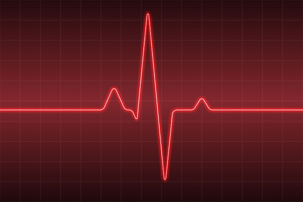 Cuidados de saúde médicos com pulso cardíaco ecg