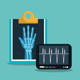 Cuidados de saúde médicos digitais de raio x isolados