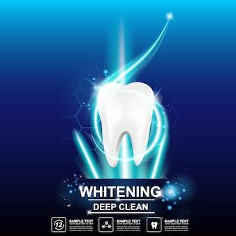 Cuidados dentários e dentes no conceito de fundo.