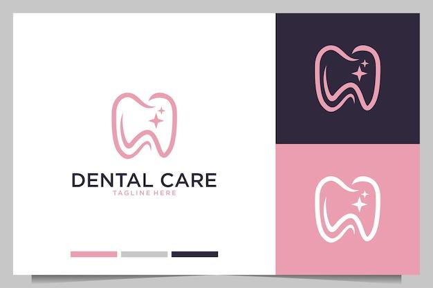 Cuidados dentários femininos com logotipo da letra c e w