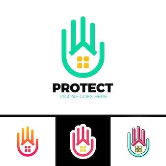 Cuidados em casa, modelo de logotipo de serviço
