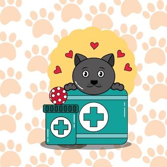 Cuidados médicos veterinários para cuidar do gato de estimação