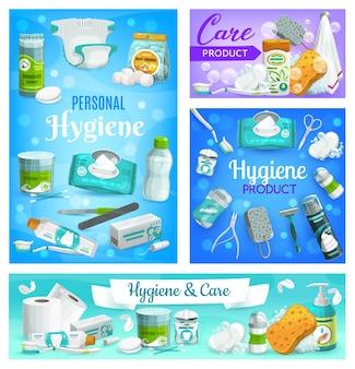 Cuidados pessoais, higiene e saúde corporal, artigos e produtos para banheiro