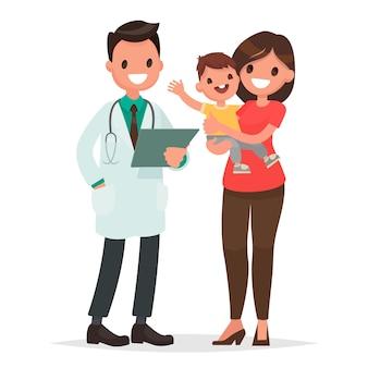 Cuidando da saúde da criança ilustração