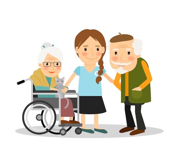 Cuidando de pacientes idosos