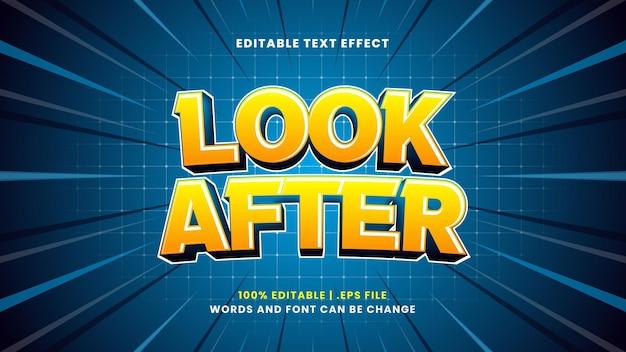 Cuide do efeito de texto editável em estilo 3d moderno