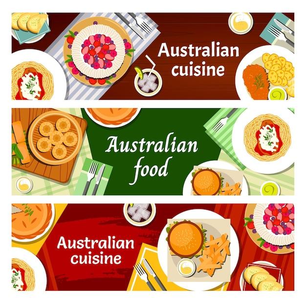 Culinária australiana, cardápio de refeições