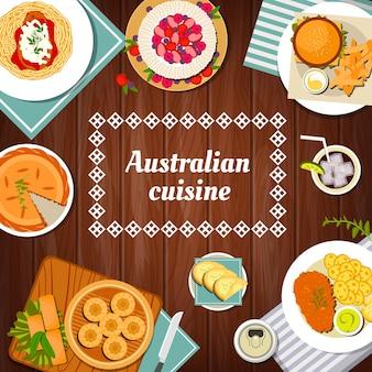 Culinária australiana, cardápio e refeições