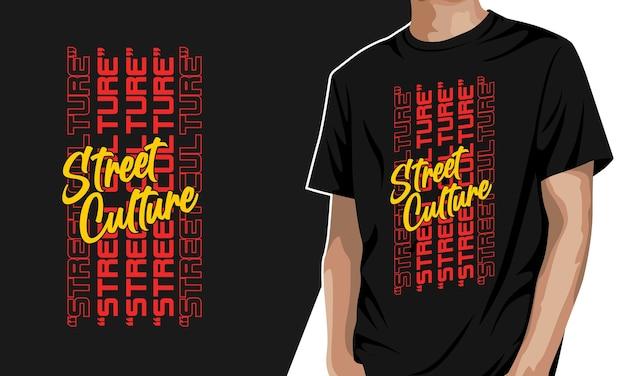 Cultura de rua - t-shirt gráfica