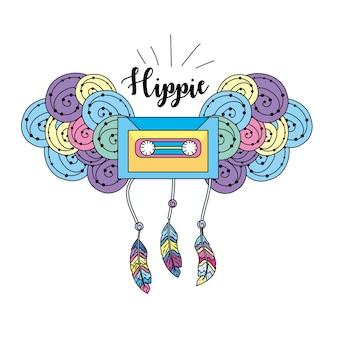 Cultura hippie de paz e amor ao estilo de vida