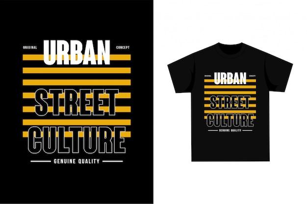 Cultura urbana da rua - t-shirt gráfico