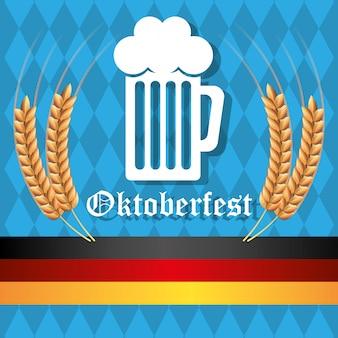 Culturas de alemanha e oktober fest design.